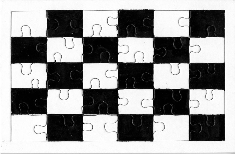 julien nedelec puzzle damier