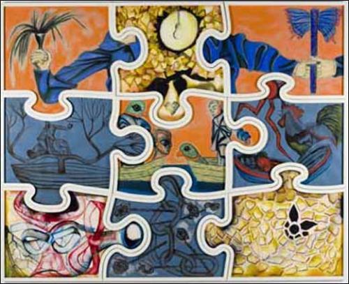 Francesco Clemente Jigsaw Puzzle (Le grand puzzle)